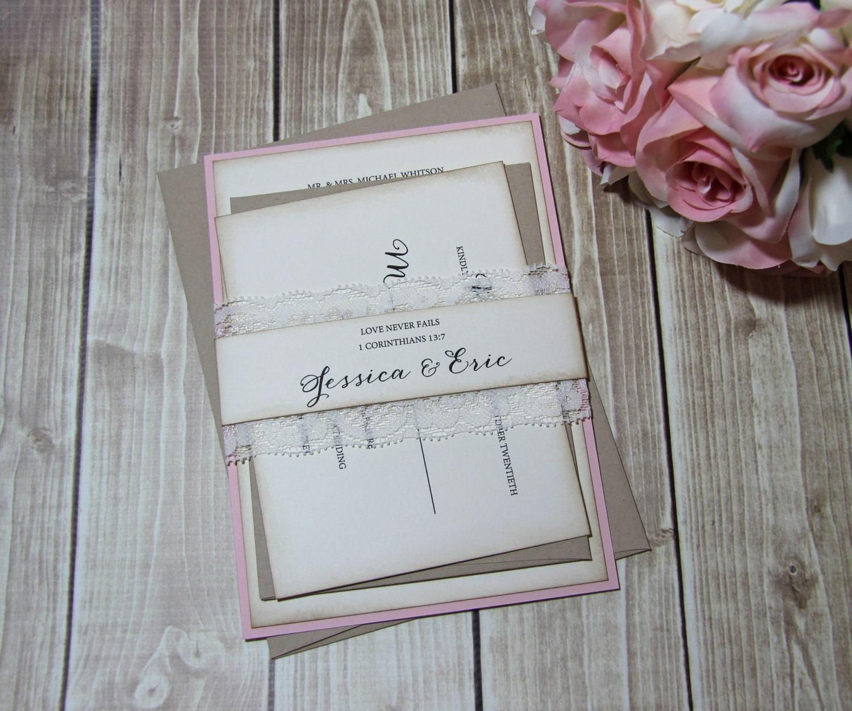 Country Chic Wedding Invitations Boho Chic By TorisCustomCreations