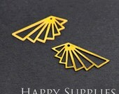 Exclusive - 8pcs Raw Brass Geometric Charm / Pendant, Fit For Necklace, Earring, Brooch (RD032)