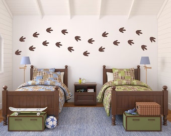 Dinosaur Footprints Wall Decal Set   Boy Bedroom Sticker   Dinosaur Bedroom  Decor   Footprints (