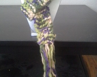 Green/Purple Multi Skinny scarf