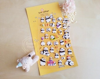 PUFFY pandas - suatelier stickers