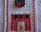 Free Shipping Christmas Crochet Chimney Doily