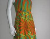 60s 70s vtg handmade psychedelic dress