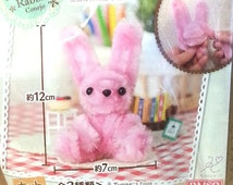 DIY Pink Bunny Kit - Pipe Cleaner Craft Kit - Tiny Kawaii Toy to Craft Yourself! - Great for Kids or Adults!