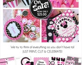 Minnie Mouse Birthday Decorations | Minnie Mouse Party Decorations | Minnie Mouse Birthday Banner Printable | Amanda's Parties To Go