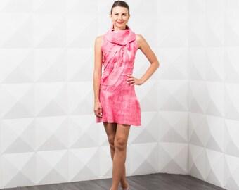 Felted Wool Clothing, Silk Dress, Sleeveless Tunic, Winter Dress, Party Dress, Pink Wedding Dress, Short Formal Dress, Minimalist Clothing