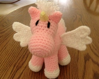 Crochet Isabel the Allicorn (Pegasus + Unicorn), Made to Order
