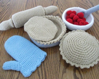 Crochet Pie Baking Set, Made to Order