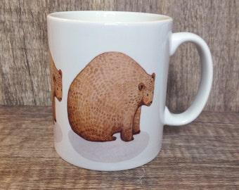 Porte tasse, ours, ours brun, mug, tasse, homeware, cadeau pour les amoureux de l'ours, cadeaux pour enfants, enfants, doux cadeaux, cadeaux pour les amoureux des animaux,