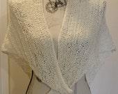 Super Easy Knitting Shawl pattern chart, Knit Shawl , reading shawl, Abracadabra color changing yarn pattern, Hikoo yarn, beginner pattern