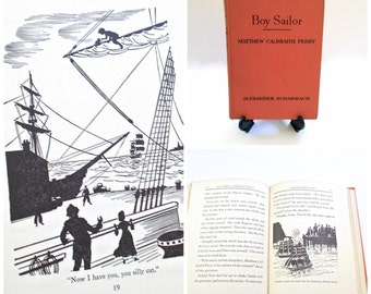 Boy Sailor Childs Book Matthew Perry by Alexander Scharbach 1955 First Edition