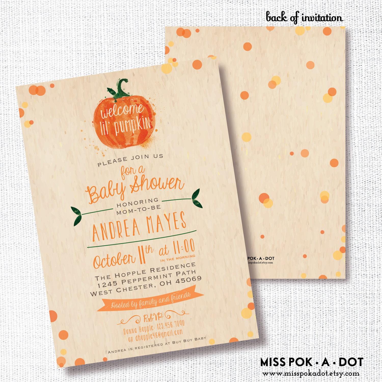 Little Pumpkin Baby Shower Invitations – gangcraft.net