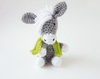 Amigurumi PATTERN- Crochet Donkey Amigurumi Pattern-Amigurumi Animal Pattern