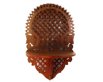 Vintage Shelf Fretwork - Vintage Hand Carved Fretwork - Wooden Shelf Home Decor