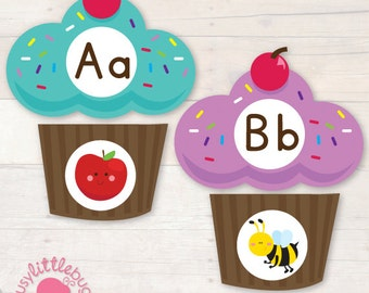Beginning Sounds Cupcake Match Game AUTOMATIC DOWNLOAD