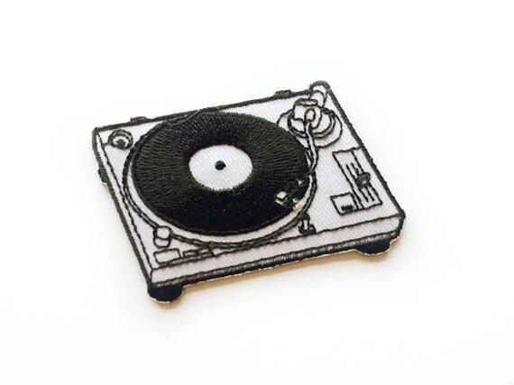 Platine vinyle patch lecteur de vinyle fer sur platine - Lecteur disque vinyl ...
