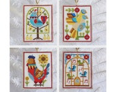 12 Days of Christmas - ornaments and sampler - modern cross stitch pattern PDF - Instant download