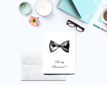 Groomsman Card - Ring Bearer Card - Man of Honor Card - Best man Card - Bridal Party Card - Wedding Party Card - Will You Be Card