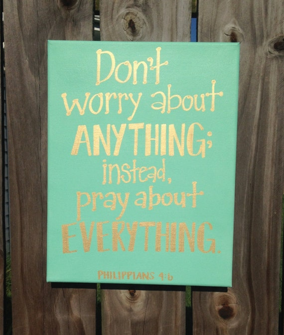 Bible Verse Canvas Art Hand Lettered Mint And Gold