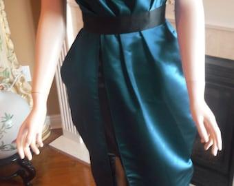 Navy blue bridesmaid dress, party dress, celebrity inspired dress, kim kardashian dress