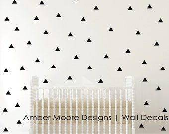 Triangle Wall Decals - Triangle Stickers - Triangle Wall Stickers - Vinyl Triangles - Triangle Decals - Triangle Decor - Triangle Wall Art