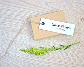 Set of Kraft / White Tags - Escort Card - Wedding Supply - Place-Card - DIY Wedding - Wedding Favor Tag - Set of 50 - 100 - 200