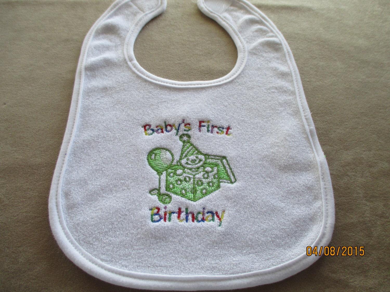 Baby bib gift machine embroidery acessories