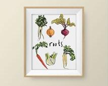 nature prints,nature art,botanical print,botany art,artwork for kitchen,vegetable print,botanical illustration,art print,vegetable art