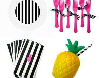 Mini Party Collections:Party Like a Pineapple edition- Pineapple party- Summer party- Party in a box