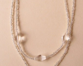 Crystal Clear Double Necklace