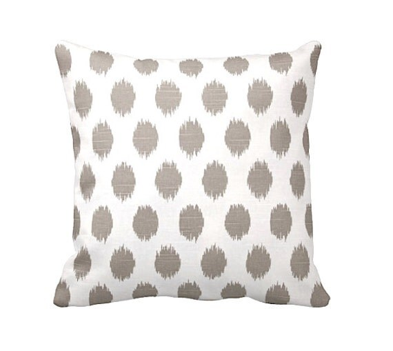Throw Pillow Sizes Chart : 7 Sizes Available: Decorative Pillow Taupe by ReedFeatherStraw