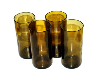 Recycled Wine Bottle Drinking Glasses - Set of 4