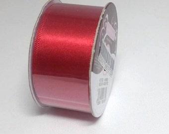 25mm Christmas Red Satin Ribbon 25mm, Red Satin Ribbon, Satin Ribbon, Christmas Ribbon, 25mm Ribbon, Christmas Red Satin 25mm Ribbon