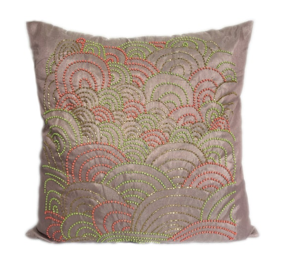 Pink Beaded Decorative Pillow : Pale Pink Beaded Pillow Covers Pale Pink Accent Pillows Pale