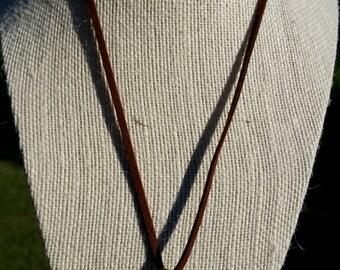 Wood burned handmade pendant