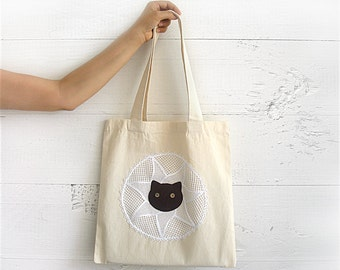 SALE!!! CHRISTMAS GIFT, Express Shipping, Tote Bag, Cat Bag, Cat Lovers, Cotton Canvas Tote Bag, Market Bag, Shopping Bag, Gift For Her, Cat