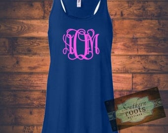 Monogram Initial tank- Many color options
