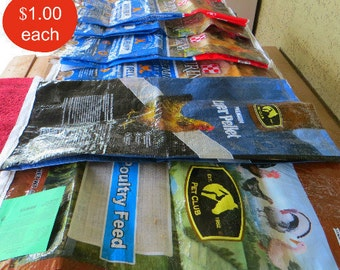 9 Chicken Feed Bags