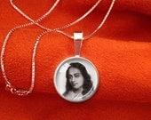 YOGANANDA PENDANT Sterling Silver Paramahansa Yogananda Jewelry SRF Guru Necklace Kriya Yoga 16mm