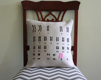 Karyotype Pillow // Chromosome // Gene // DNA // Science Pillow // Scientist // Baby Shower // Modern Nursery