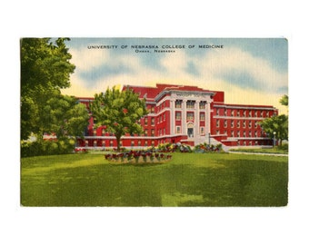 University of Nebraska College of Medicine - Hospital - Omaha NE - Vintage Postcard