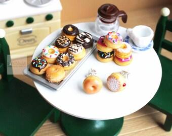 Donut Earrings Food Earrings Donut Jewelry Small Stud Earrings Kawaii Polymer Clay Pink Donuts Fake Food Miniature Friendship Gifts Doughnut