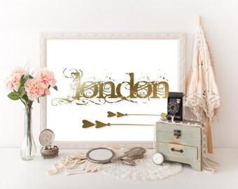 London Decor, London Travel Poster, London Print, London Art, London Digital Download, London Poster, Travel Decor, London Printable 0288