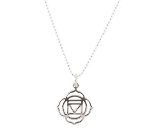 Root Chakra Necklace in Sterling Silver, #6720
