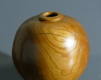 Handmade Almond Wood Hollow Form Vase,Turned Vase,Wooden vase,Elegant vase