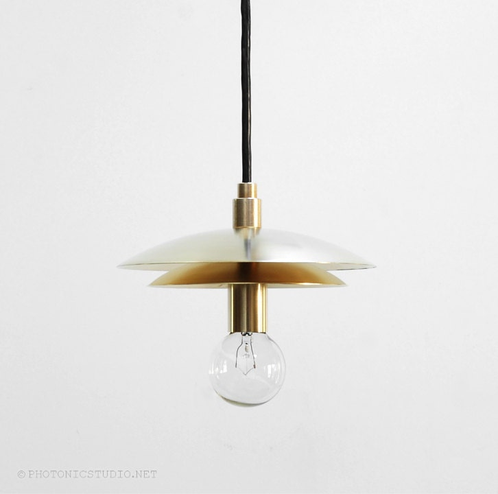 Modern pendant light mid century pendant light brass for Mid century modern pendant light fixtures