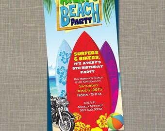 Printable Teen Beach Movie Birthday Party Invitation (PDF)