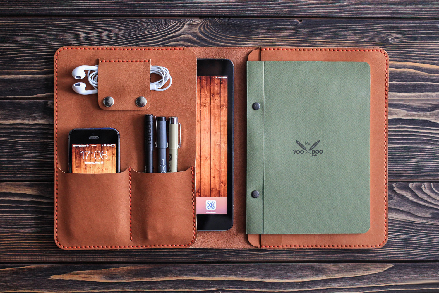 Ipad Mini Leather Folio Ipad And Document Organizer Ipad