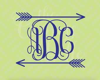 Arrows Monogram Decal - Yeti Decal - Personalized Decal - Yeti Tumbler Monogram