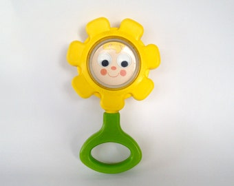 Vintage FISHER PRICE toys - flower rattle - 1973